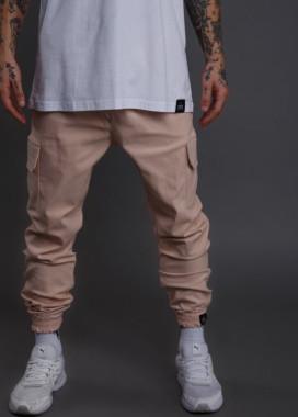 Изображение Штаны мужские джогеры с накладными карманами бежевые