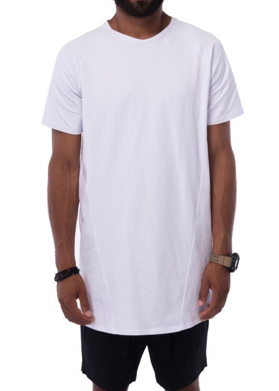 Изображение Удлиненная белая футболка KARAN