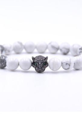 Изображение Браслет из камня леопард с камином Fashion