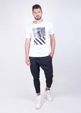 Изображение Мужская футболка белая с принтом die in love MFStore