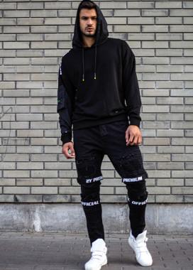 Изображение Мужское худи с плащевыми рукавами и капюшоном MFStore