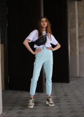 Изображение Брюки женские карго голубые Кэсси Tur streetwear