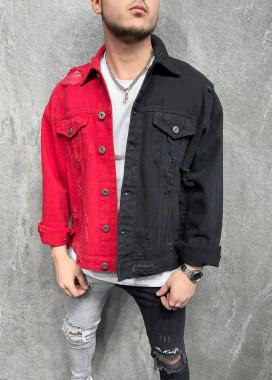Изображение Джинсовая куртка двухцветная MFStore