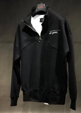 Изображение Свитшот на с молнией на горловине черный MFStore