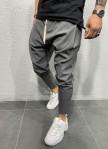 Изображение Брюки серые зауженные с белым шнурком Mfstore
