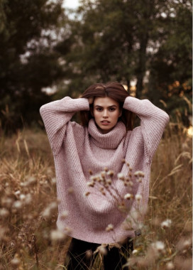 Изображение Свитер женский Oversize розовый
