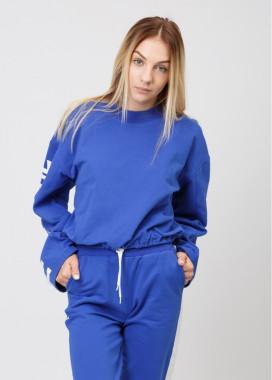 Изображение Женский синий балахон Street style