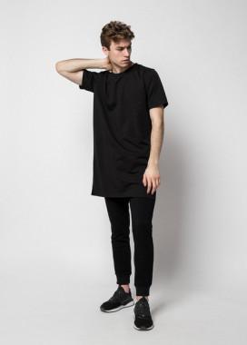 Изображение Футболка мужская черная удлиненная модель Ronin Tur streetwear