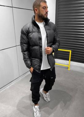 Изображение Куртка мужская с врезными карманами черная MFStore
