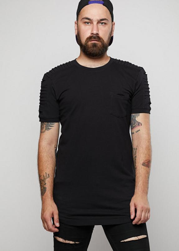 Изображение Мужская удлинённая футболка сложного кроя ThePARA