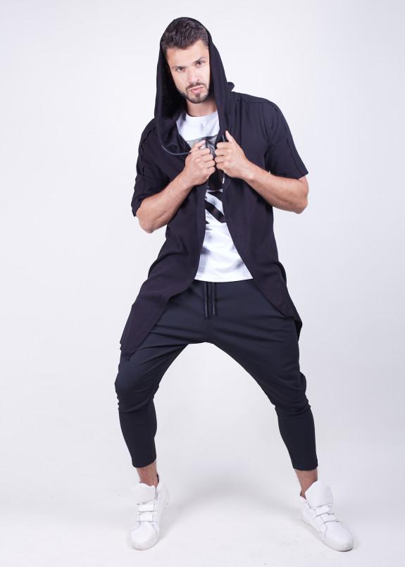 Изображение Кофта мужская з коротким рукавом та капюшоном MFStore
