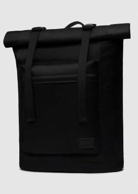 Изображение Большой рюкзак ролл-топ черного цвета с внешним карманом
