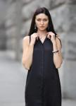 Изображение Платье-рубашка без рукавов черная