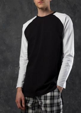 Изображение Лонгслив мужской черно-белый Шазам Tur streetwear
