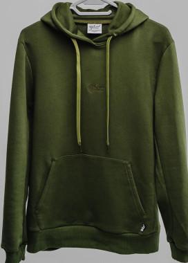 Изображение Зеленое женское худи с классическим лого