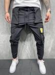 Изображение Брюки спортивные с накладными карманами и желтой лейбой MFStore