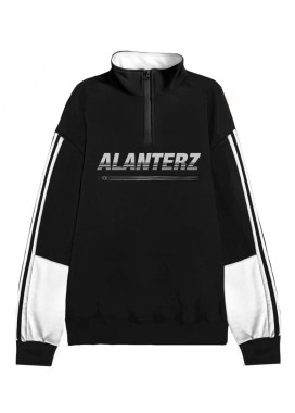 Изображение Кофта Basic 1/4 Zip Reflective Oversized Black Sweatshirt