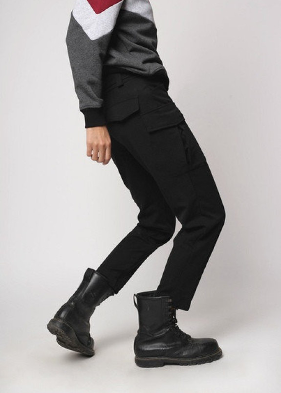 Изображение Карго штаны женские черные Китана Tur streetwear