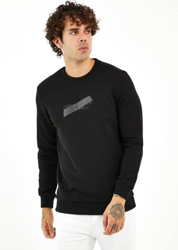 Изображение Кофта мужская базовая с матовым принтом на груди MFStore