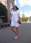 Изображение Платье-футболка женское белое