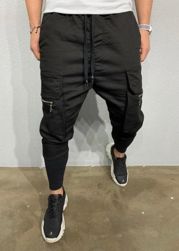 Изображение Брюки з великими накладними кишенями збоків на блискавках MFStore