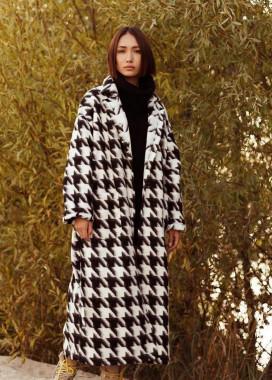 Изображение Пальто с принтом гусиная лапка
