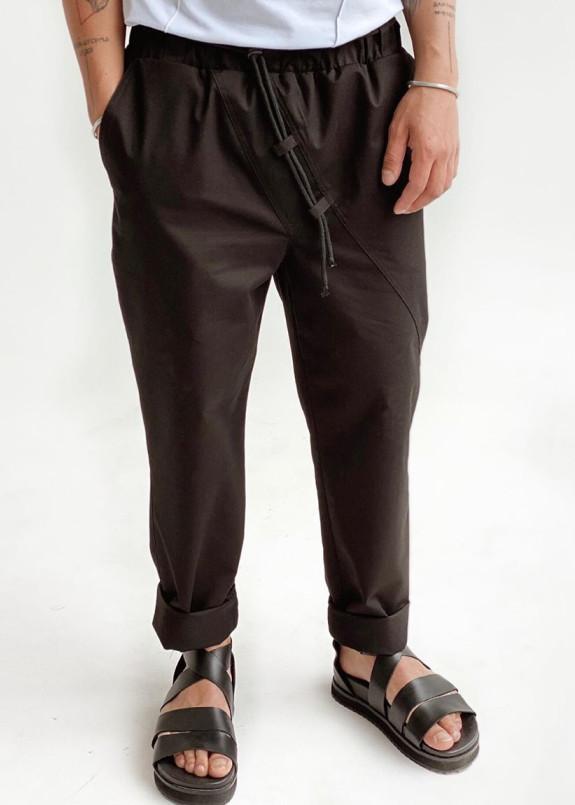 Изображение Черные дизайнерские брюки