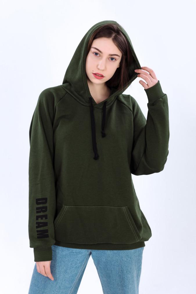 Изображение Худи женское темно-зеленое Dream DREAMPL