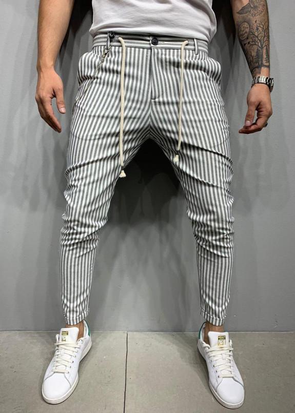 Изображение Брюки в полоску с белым шнурком MFStore