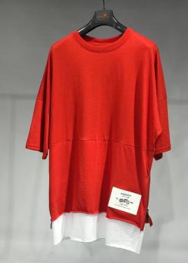 Изображение Базовая красная футболка с удлиненным рукавом MFStore