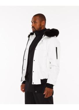 Изображение Куртка мужская с капюшоном белая