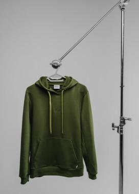 Изображение Зеленое мужское худи с классическим лого