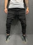 Изображение Брюки джинсовые с накладными карманами и манжетами на затяжках MFStore