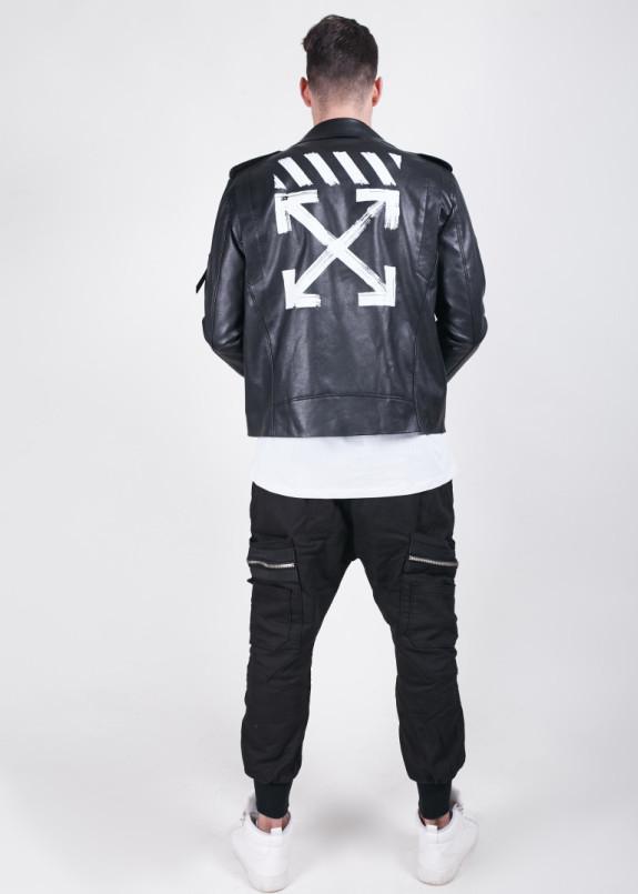 Изображение Куртка кож зам с лого спине MFStore