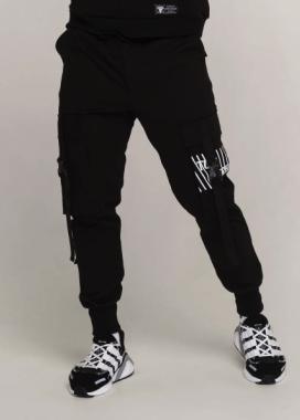 Изображение Карго штаны мужские черные Ёсида