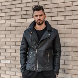 72e1b903c8d Куртка из эко-кожи с рифлеными вставками MFSTORE