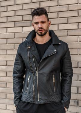 Изображение Куртка из эко-кожи с рифлеными вставками MFSTORE