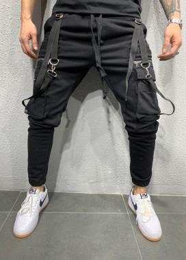 Изображение Спортивные штаны с накладными карманами и завязками