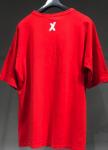 Изображение Футболка красная с маленьким крестиком сверху на спине MFStore