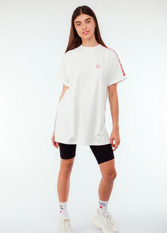Изображение Удлиненная футболка с текстом