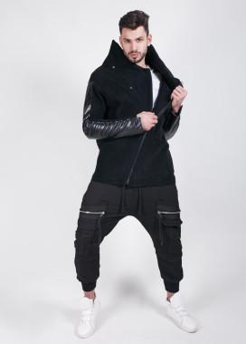 Изображение Кофта на флисе с кожаными вставками MFS Brand