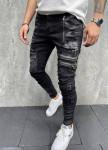 Изображение Дизайнерские джинсы с молниями на карманах серые MFStore