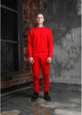 Изображение Штаны мужские на флисе красные