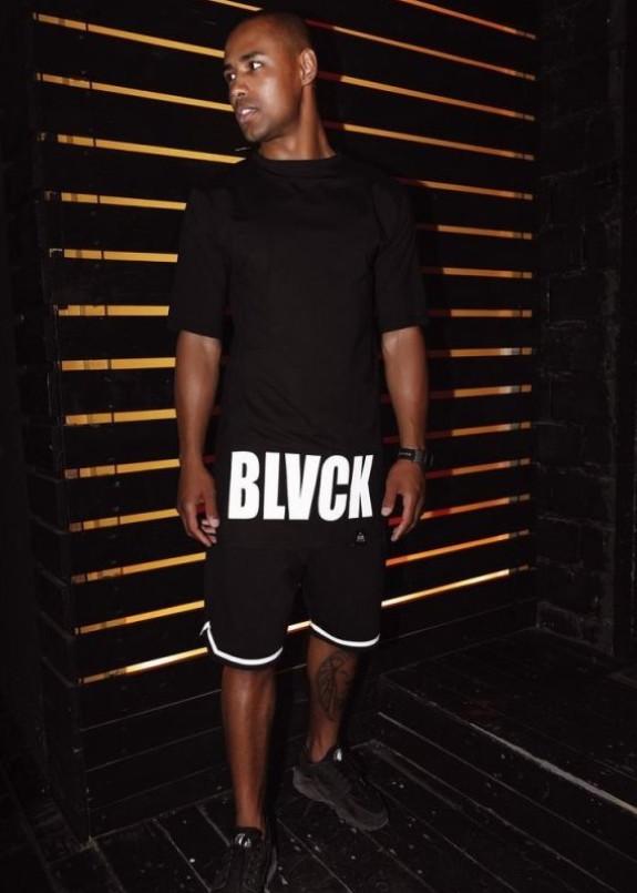 Изображение Футболка мужская с принтом BLVCK LIMIT черная