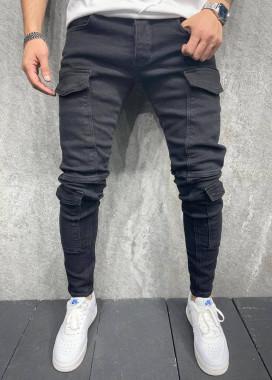 Изображение Джинсы с накладными карманами по всей длине MFStore