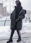 Изображение Штаны женские Sport с лампасами теплые черные