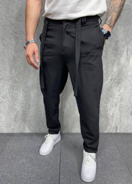 Изображение Брюки черные мужские с поясом MFStore