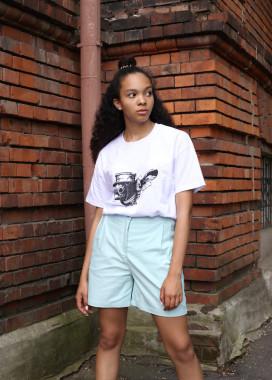 Изображение Шорты женские бирюзовые Kathreen Tur streetwear