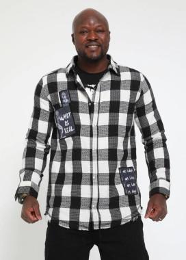Изображение Рубашка в клетку с лого MFStore