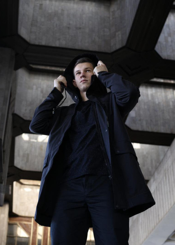 Изображение Демисезонная куртка парка мужская черная Рейдер Tur streetwear